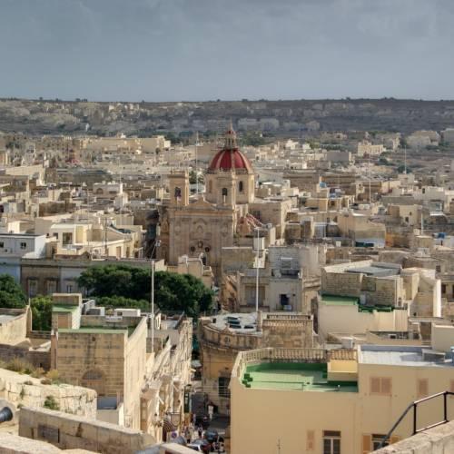Vistas de la ciudad de Gozo