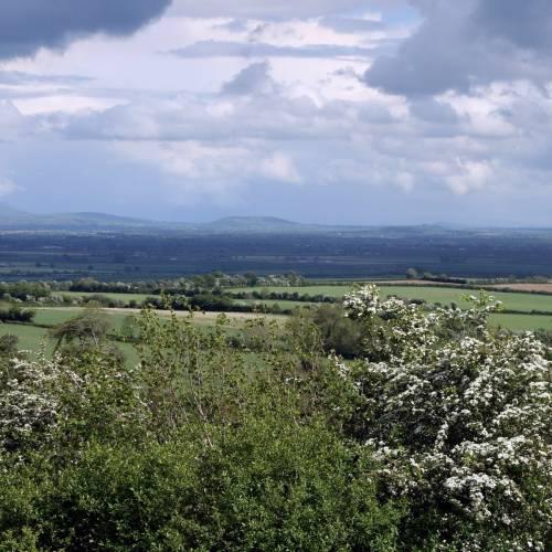 Vistas de las montañas de Wicklow desde Kildare