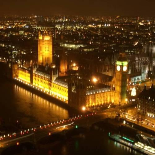 Iluminación del Parlamento de Londres
