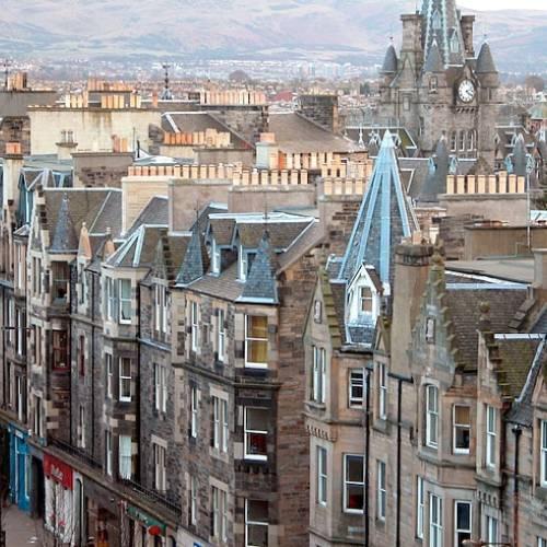 Casas típicas en Edimburgo