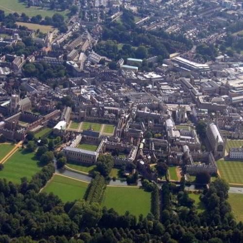 Vista aérea de Cambridge
