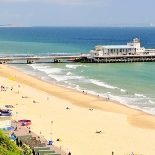 Panorámica de la playa de Bournemouth