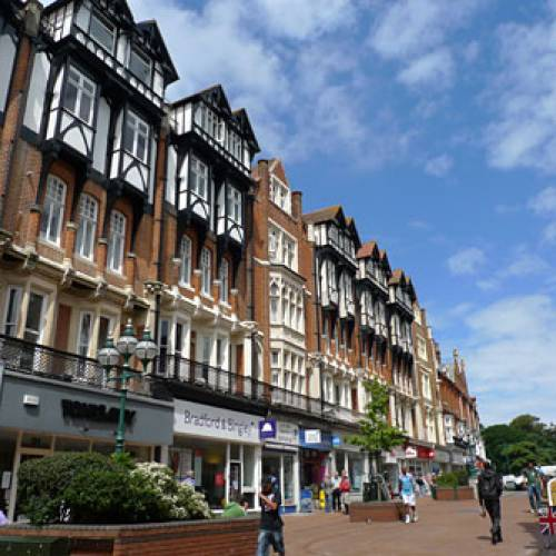 Calle típica de Bournemouth