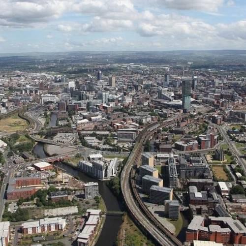 Vista aérea de Manchester