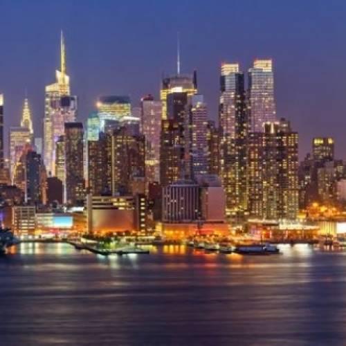Panorámica nocturna de Nueva York