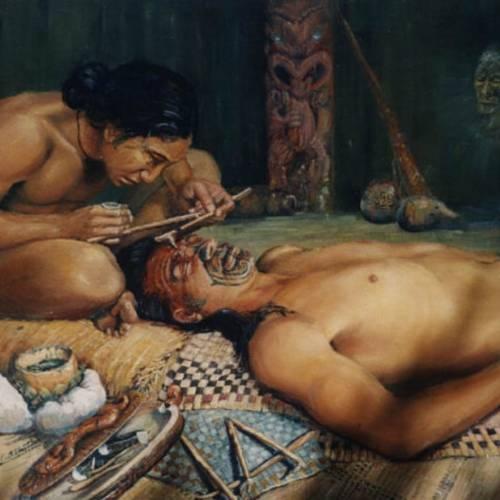 El arte del tatuado maorí
