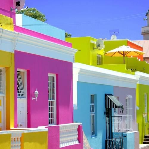 Pintorescas casas en Ciudad del Cabo