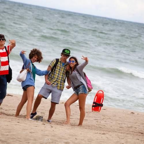 Estudiantes en Fort Lauderdale beach