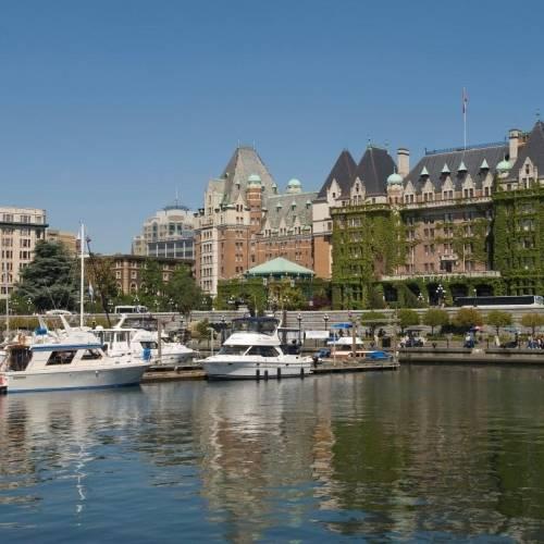 El puerto de Victoria, BC, Canadá