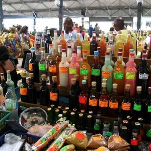 Mercado local Fort-de-France ,Martinica