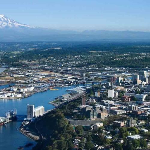 Vista panorámica de Tacoma, en el estado de Washington.