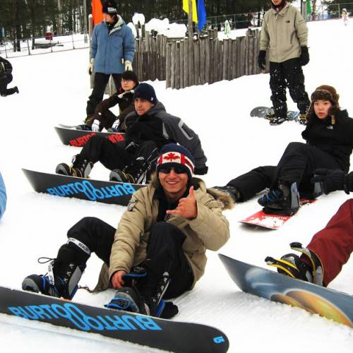 Snowboard en Blue Mountain