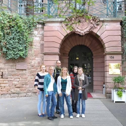 Entrada de la escuela de alemán en Heidelberg