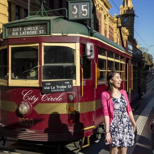 Tranvía en el centro de Melbourne