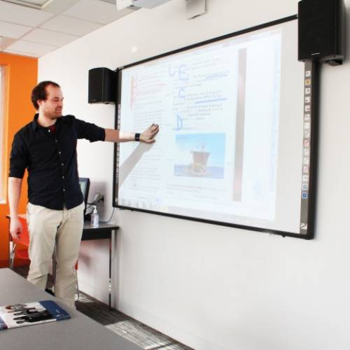 Aulas con pizarras interactivas