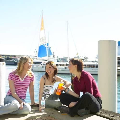 Disfrutando en el puerto de Sydney