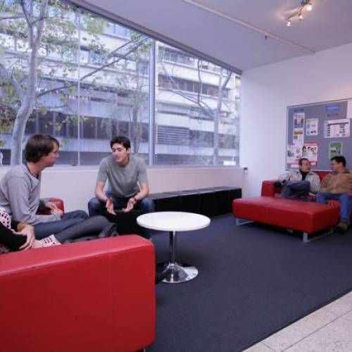 Student lounge en ELC Sydney