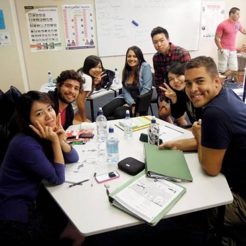 Estudiantes de inglés en Auckland